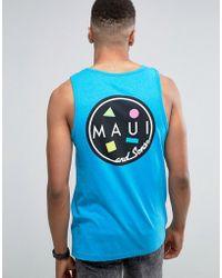 Maui & Sons Maui Cookie Logo Vest - Blue