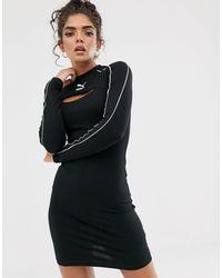 PUMA Черное Облегающее Платье Classics-черный
