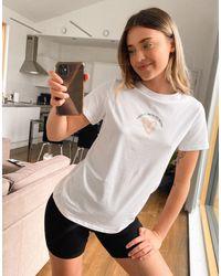 New Look T-shirt avec inscription - Blanc