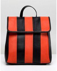 ASOS - Design Chunky Stripe Minimal Backpack - Lyst