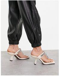 TOPSHOP Nova Chain Mule Sandal - White