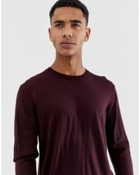 French Connection - Plain Logo Crew Neck Knit Jumper - Lyst