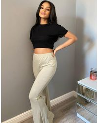 Missguided Co-ord Flare Pant - Green