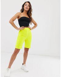 Missguided – Legging-Shorts - Gelb