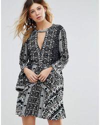 Free People - Tegan Border Print Dress - Lyst