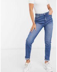 Urban Bliss Mom jeans a lavaggio medio - Blu