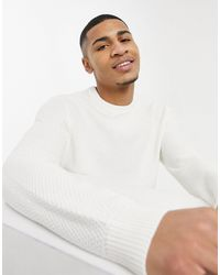 Esprit - Белый Трикотажный Джемпер С Круглым Вырезом - Lyst