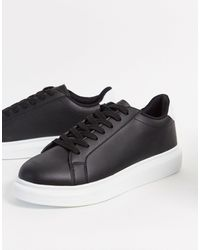 Brave Soul Chunky Sole Sneakers - Black