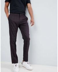 SELECTED - Slim Suit Trouser In Check - Lyst