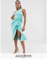 ASOS Vestido midi asimétrico - Azul