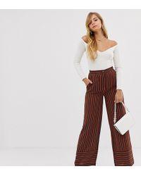 Boohoo - Wide Leg Tailored Trousers In Stripe - Lyst