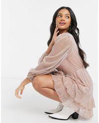Forever New Платье Мини Цвета Розовое Золото -золотой - Многоцветный