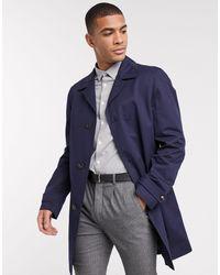 Tommy Hilfiger Хлопковое Пальто -темно-синий