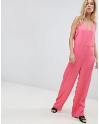 Pieces Wide Leg Jumpuit - Pink