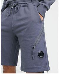 C.P. Company Pantalones cortos grises con detalle - Azul