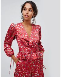 Keepsake Hold Back - Top manches longues - Rouge