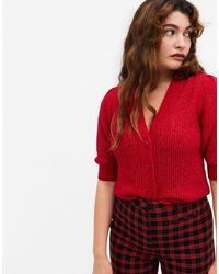 Monki - Puffy - Cardigan a maniche corte rosso - Lyst