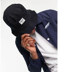 Jack & Jones - Черная Панама С Логотипом -черный Цвет - Lyst