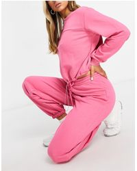 NA-KD Organic Cotton Co-ord joggers - Pink