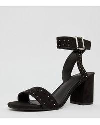 Pimkie Sandalen mit Blockabsatz und Nieten - Schwarz