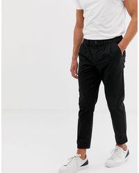 ASOS Pantalon chino cigarette à plis - Noir