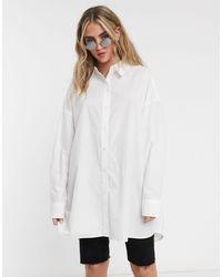 Weekday Camisa extragrande - Blanco