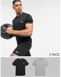 ASOS 4505 Confezione da 2 T-shirt da allenamento ad asciugatura rapida - Nero