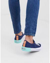 Nicce London Kansas - Sneakers blu navy