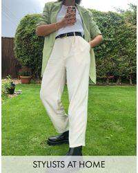 Monki Pantalones tapered en beis Sadie de - Neutro