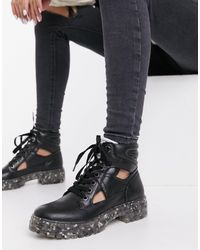 Call It Spring By Aldo River Vegan Chunky Lace Up Boot - Black