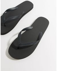 ASOS Flip Flops - Black
