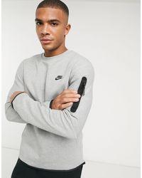 Nike Tech - Fleece Sweater Met Ronde Hals - Grijs