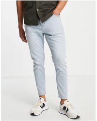TOPMAN Stretch Taper Jeans - Blue