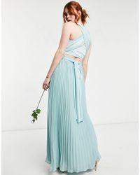 Oasis Светло-голубое Платье-трансформер Макси Bridesmaid-зеленый Цвет