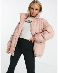 Fila Розовая Дутая Куртка -розовый Цвет - Многоцветный