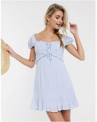 Skylar Rose Платье Мини В Клетку -голубой - Синий