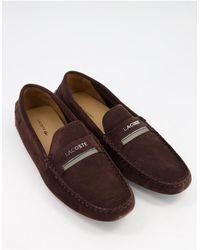 Lacoste Plaisance Driving Shoes - Brown