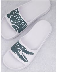 Lacoste Белые Шлепанцы С Принтом Крокодила 2.0-белый - Многоцветный