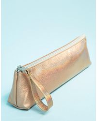 Monki - Holographic Pencil Case In Pink - Lyst