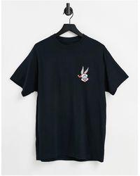 New Look Camiseta negra extragrande con estampado - Negro