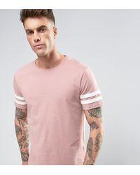 Brooklyn Supply Co. College Stripe Sleeve T-shirt - Pink