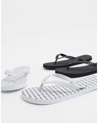 Truffle Collection - 2 Pack Flip Flop - Lyst