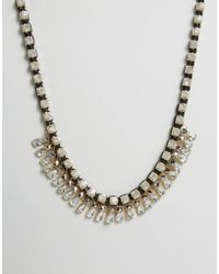 Little Mistress - Statement Crystal Necklace - Lyst