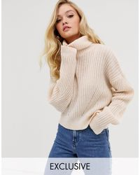 Micha Lounge Luxe Roll Neck Sweater - Natural