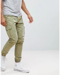 Solid - Cargo Pants With Cuffed Hem - Lyst