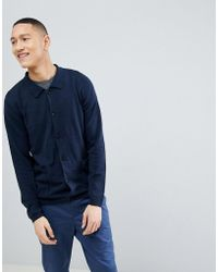 SELECTED - Knitted Cardigan With Patch Pockets - Lyst