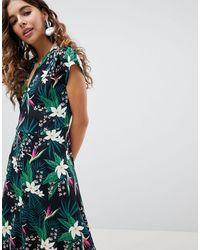 B.Young Tropical Print Shirt Dress - Multicolour