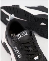 Versace Jeans Couture Черные Кроссовки На Массивной Подошве -черный Цвет