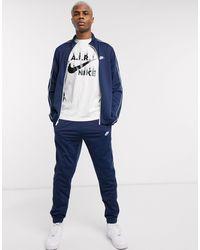 Nike Темно-синий Спортивный Костюм На Молнии