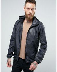 The North Face - Logo Hooded Jacket Drew Peak Windwall In Black - Lyst